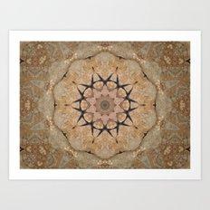 Stone Mandala CB Art Print