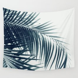 Palm Leaves Green Blue Vibes #3 #tropical #decor #art #society6 Wall Tapestry