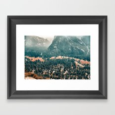 Yosemite Valley - Fall Colors Framed Art Print