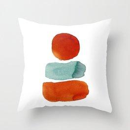 Orange on Top Throw Pillow