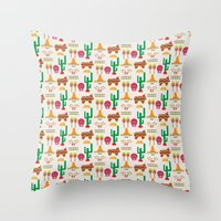 mexico Throw Pillows featuring Mexico by Ana Types Type