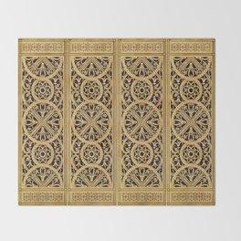 Golden Ornement Throw Blanket