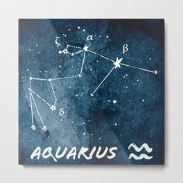 Aquarius Zodiac Constellation 2 Metal Print
