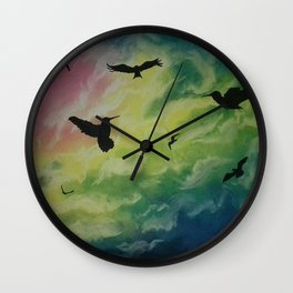 Heaven Of Birds Wall Clock