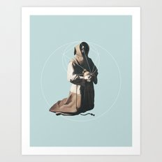 NOT Saint Francis in Meditation Art Print