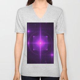 Purple Chakra Charging Unisex V-Neck