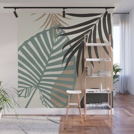 Minimal Jungle Leaves Finesse #1 #tropical #decor #art #society6 Wall Mural