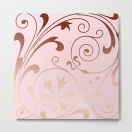 Rose Quartz Gold Komingo Metal Print