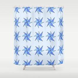 Stars 8- sky,light,rays,pointed,hope,estrella,mystical,spangled,gentle Shower Curtain