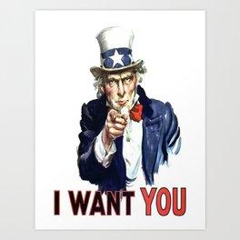 Uncle Sam I Want You Art Print
