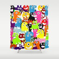 aliens Shower Curtains featuring ALIENS  by d.ts