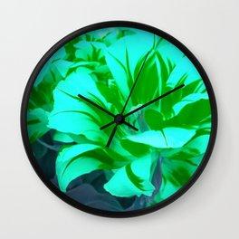 seafoam green tulips Wall Clock