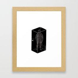 Astronaut in a box Framed Art Print