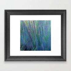 Blugreen Grasses Framed Art Print
