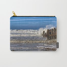 White horse on walcott beach Carry-All Pouch