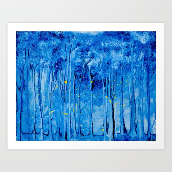 Lights in a Forest Art Print