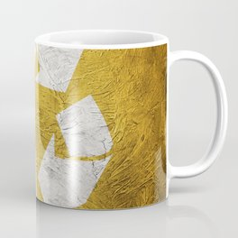 Recycle symbol on Grunge background. Vintage style. Coffee Mug