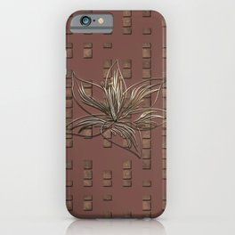 Silver Gold Lily Flower iPhone Case