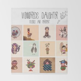 Winnifreds Daughter Musings & Merriment Throw Blanket