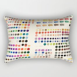 Artist Color Swatches - watercolor, prisma, paints Rectangular Pillow