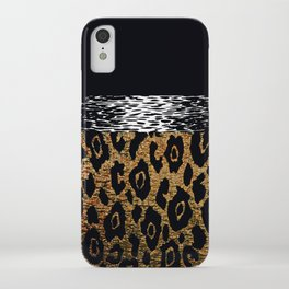 ANIMAL PRINT CHEETAH LEOPARD BLACK AND GOLDEN BROWN iPhone Case