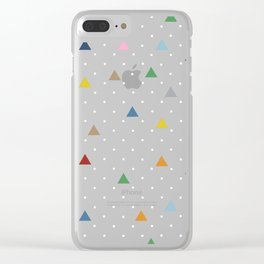 Pin Point Triangles Black Clear iPhone Case