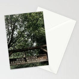 Muir Woods National Monument Sign Stationery Cards