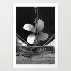 Shipyard Boat IV Art Print