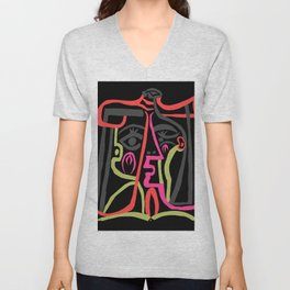 Picasso - Neon Colors Unisex V-Neck