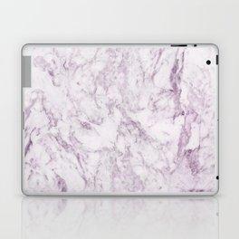 Elegant modern vintage white lilac violet marble Laptop & iPad Skin