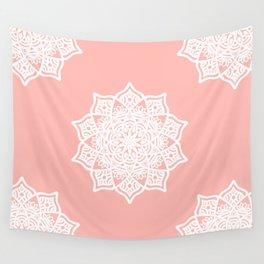 Pink Lotus Pastel Mandala Wall Tapestry