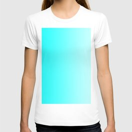 Cyan to Pastel Cyan Vertical Linear Gradient T-shirt