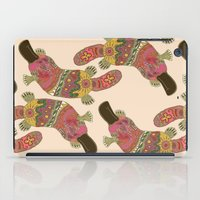 platypus iPad Cases featuring duck-billed platypus linen by Sharon Turner