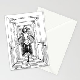 Alice and Flamingo Stationery Cards