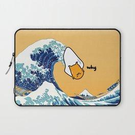 gudetama's great wave Laptop Sleeve