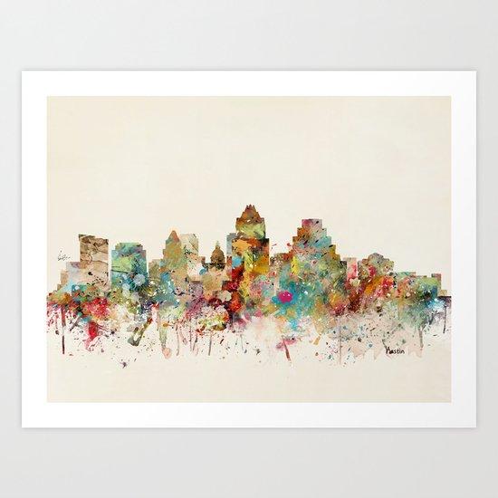 austin texas skyline by bribuckley