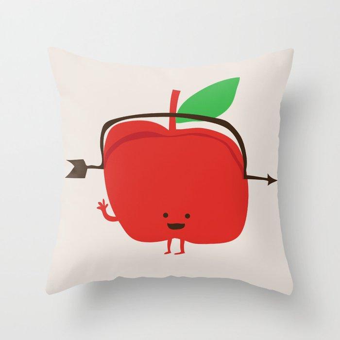 The Apple and The Arrow Throw Pillow