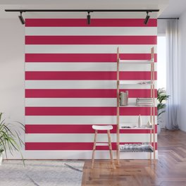 Candy Cane Christmas Home Decor Pattern | Santa | White and Red Wall Mural