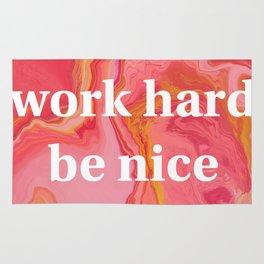 Work Hard Be Nice by Bethany Kelm Rug