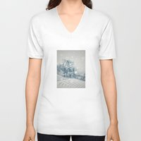 outdoor V-neck T-shirts featuring Outdoor Theater by Artist pIL