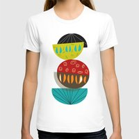 mid century modern T-shirts featuring Mid-Century Modern Abstract Half Moons by Kippygirl