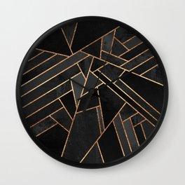 Black Night Wall Clock