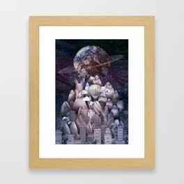 STELLAR CITY Framed Art Print