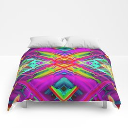 Colorful digital art splashing G475 Comforters