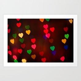 Heart Lights Art Print