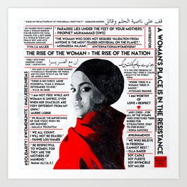 The Rise of The Woman Art Print