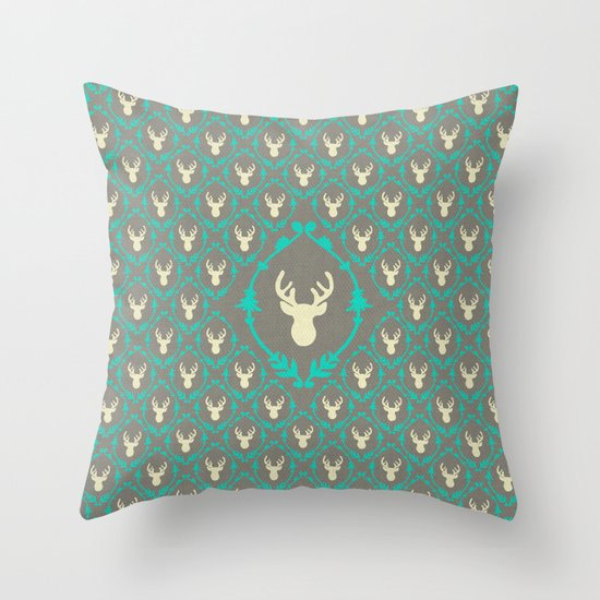 Oh Deer (white) Throw Pillow