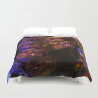 lab Duvet Covers featuring Chocolate Lab by Roger Wedegis