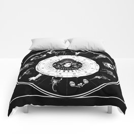 Skeleton Zodiac Ouija Board Comforters