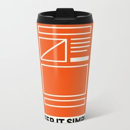 Keep It Simple Metal Travel Mug